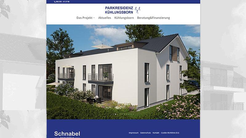 Projektseite Parkresidenz Online